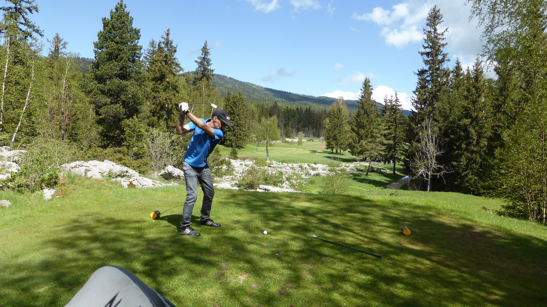 Christophe en plein swing au n°6