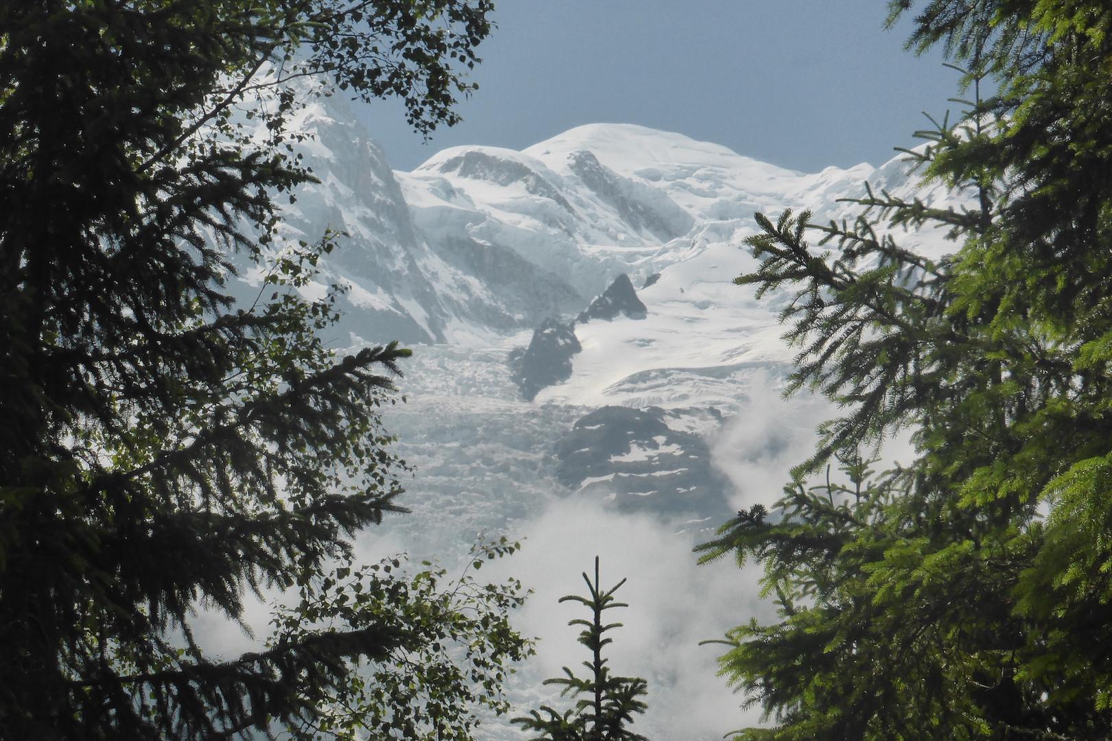 Le Mont Blanc depuis le Balcon Sud, le 17 Juin