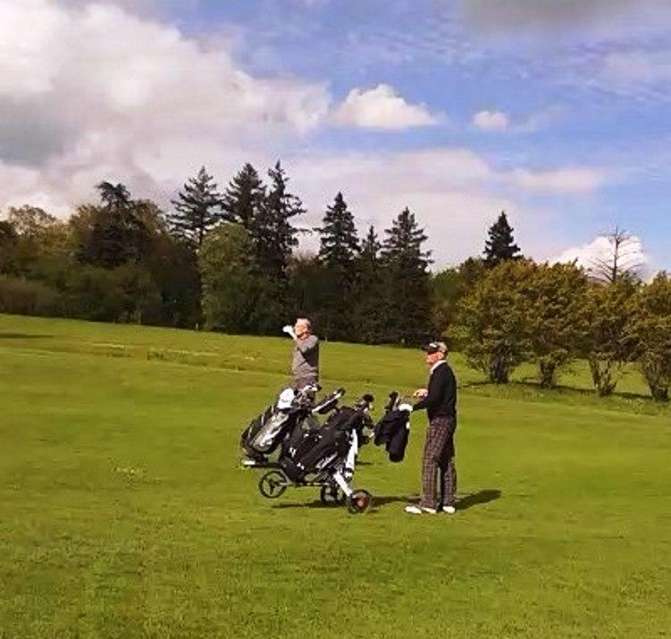 Golf avec michel noir