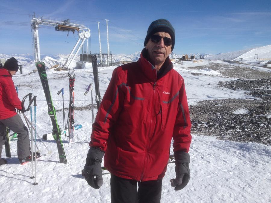 Jean parisot sur le glacier aux deux alpes
