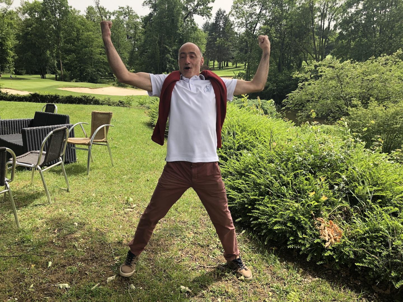 Christophe, auteur du meilleur drive (et de la meilleure approche)