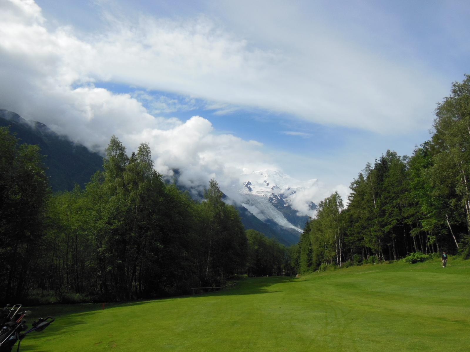 Le Glacier des Bossons depuis le dog-leg du n°7
