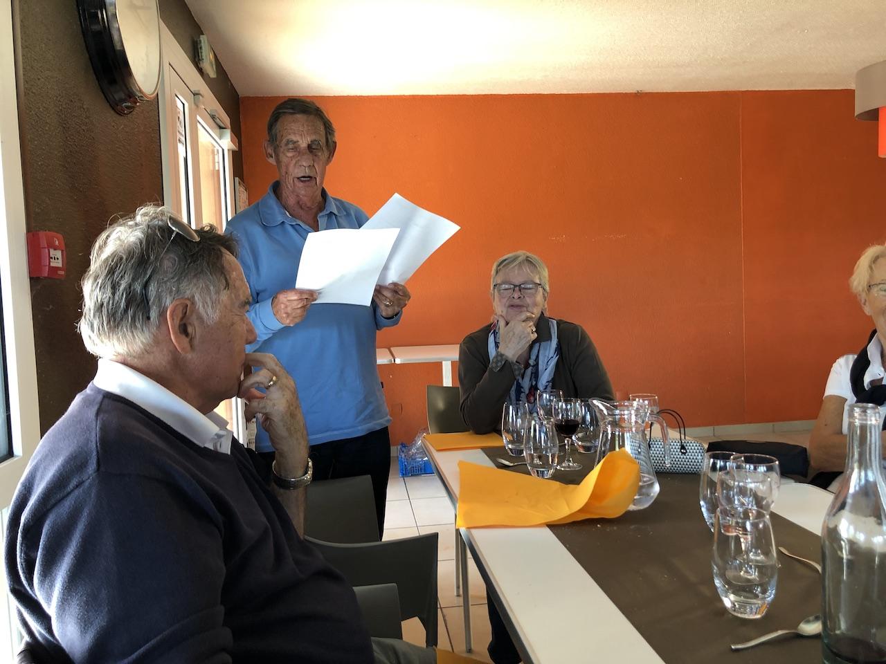 Gérard COUSSAT annonce les résultats